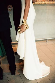 crisp white with beautiful golds.