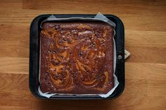 Poires au Chocolat: February 2012 salted caramel brownie