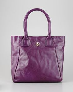 Love the purple!  L00WG Tory Burch City Tote, Purple Dream