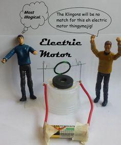 Make a mini-electric motor. I SMELL BADGES.