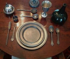 Pewter Place Setting.
