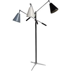 Arredoluce Triennale Floor Lamp with Monotone Shades