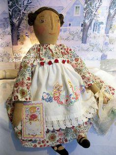 Primitive art doll, OOAK Mother's day collectible Annie by Dumplinragamuffin #NaivePrimitive