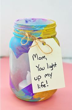 Easy and Thoughtful Mother's Day Crafts the Kids Can DIY A DIY mason jar votive is a Mother's Day gift kids can help create and Mom will love. A DIY mason jar votive is a Mother's Day gift kids can help create and Mom will love. Kids Crafts, Diy Mother's Day Crafts, Father's Day Diy, Preschool Crafts, Crafts To Make, Easy Crafts, Spring Crafts, Easy Diy, Diy Gifts For Mothers