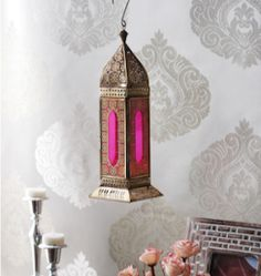 CasaCraft Rimini Pink and Golden Glass Festive Lantern pepperfry Luxury Homes Interior, Shop Interior Design, India Design, Watercolor Wallpaper, Classical Architecture, Traditional Decor, Mid Century Design, Art Boards, Decorating Your Home