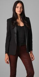BB Dakota Blazer with Leather Lapels