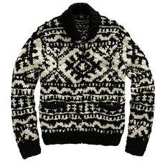 [RRL/ショールカラー フルジップ セーター]アメカジ ファッション|ヴィンテージ ファッション|ジェイクルー