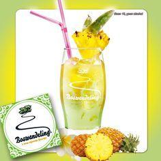 Opzoek naar een heerlijke cocktail? Probeer dan eens Boswandeling met ananassap!  Een heerlijke zoete en frisse cocktail.