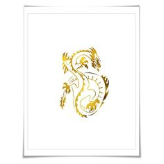 World map gold foil art print gold silver copper 36 colours3 chinese dragon gold foil art print 7 foil colours3 sizes chinese new gumiabroncs Gallery