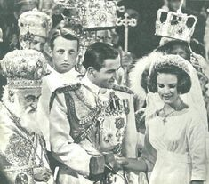 49th wedding anniversary of King Constantine II of Greece and Princess Anne-Marie of Denmark; married at the Metropolis Greek Orthodox Cathe...