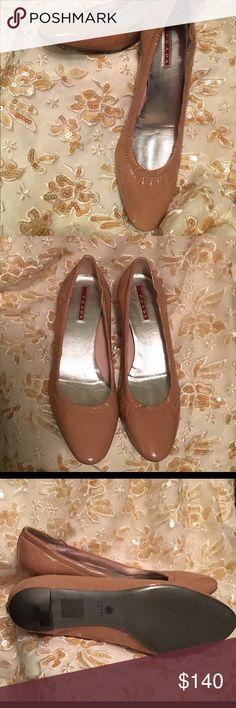 Prada kitten heeled ballerina shoes Prada kitten heeled ballerina shoes Prada Shoes Heels