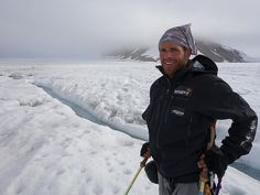 Polar explorer Vincent Colliard during the crossing of the Svalbard Glacier in August 2014 as part of the Alpina Ice Legacy Project Alpina Watches, Legacy Projects, August 2014, Canada Goose Jackets, Winter Jackets, Ice, Winter Coats, Winter Vest Outfits, Ice Cream