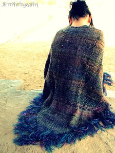 Custom Made One of a Kind Shawl with Heavy Fringe by dgarnera, $400.00