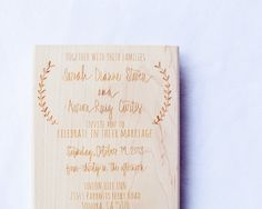 Wedding Invitation Stamp - Wedding Invitation - Custom Wedding Invite - Invitation Stamp - Laurel  For those of you getting married--this etsy store is amazing.