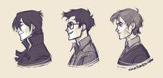 Marauders profiles: Sirius, James, Remus. No one will ever make me consider Peter as a marauder. (by viria)