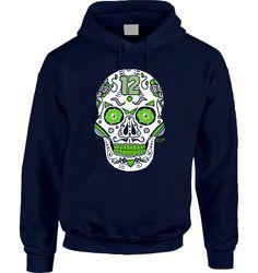Seahawks Sugar Skull Hoodie