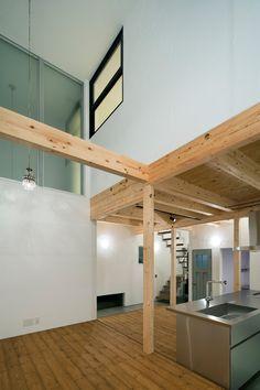 広がりを感じる家・間取り(大阪府東大阪市) | 注文住宅なら建築設計事務所 フリーダムアーキテクツデザイン