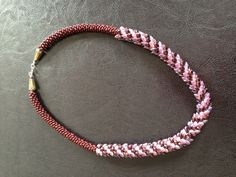 My first Kumihimo necklace using Magatama dagger beads!