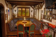 A private home bar, with the feel of a 17th century English pub. Discovered on www.Porch.com