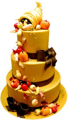 Thanksgiving Cake. Great for those large family gatherings.