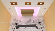 Latest Gypsum False Ceiling designs for bedroom simple false designs 2018 Simple False Ceiling Design, Gypsum Ceiling Design, House Ceiling Design, Ceiling Design Living Room, False Ceiling Living Room, House Design, Fall Ceiling Designs Bedroom, Bedroom Pop Design, Bedroom False Ceiling Design