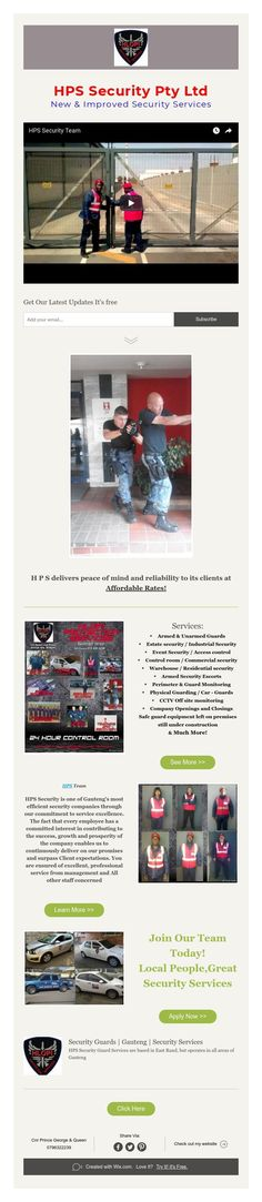 HPS Security Pty Ltd The New & Improved Security Guard Services you've been waiting for! Security Guard Services, Security Service, Join Our Team, Waiting, Peace, Sobriety, World