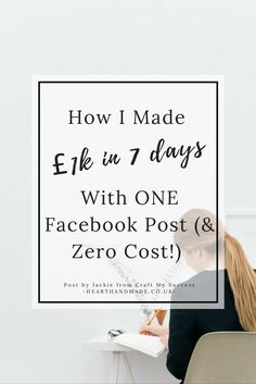 How To Make Money Online. How I made £1k in 7 days & reached 18k people in ONE Facebook post (at zero cost!) I spent hours learning & researching how to build an engaged fan base. Everyone wants and needs one of those to be a success.I knew my business idea was solid, &I knew there was a desire for my talents, and I soon discovered the biggest challenge was standing out in a very crowded Facebook space & finding loyal fans. Research has proven that listening or reading a story can put your…