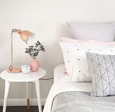 I love the gray and white and pink. So delicate and cute!