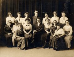 Mr. Carl J. Ruff can be seen in the center of the front row of this group photo. Mr. Ruff was an educator for forty eight years. During most of his career, he served as the head of the Mathematics department at Sandusky High School. A graduate of Baldwin Wallace College, Mr. Ruff began teaching at Sandusky High School in 1914, first as a Commercial teacher.