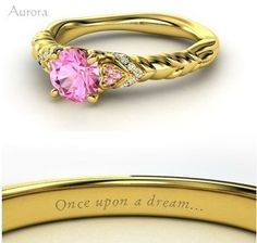 Sleeping Beauty (wedding ring) - though i'd prefer in silver or white gold