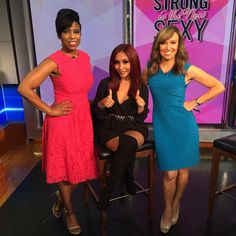#Snooki stopped by to talk about her new book #StrongIsTheNewSexy!