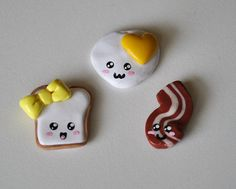 Cute Polymer Clay Breakfast Magnets Set of by ImprssvlyPredictable, $15.00