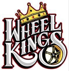 Custom lettering/logo design for Wheel Kings