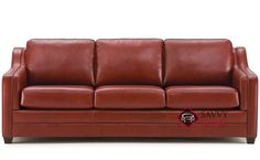 Corissa Leather Sofa by Palliser. Timeless comfort in a unique design. Red Leather Couches, Leather Loveseat, Sleeper Sofa, Custom Leather, Sofas, Living Spaces, Cabinets, Lamps, Tables
