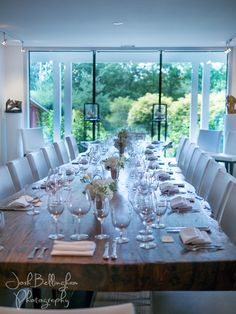 Street Winery reception space is gorgeous with stunning views and an incredible table for dinner. Table Settings, Reception, Dining Table, Wedding Photography, The Incredibles, Wine, Table Decorations, Space, Street