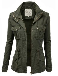 Casual Army Jacket- This is the cutest thing I have ever seen it will look good with the fall look ;)