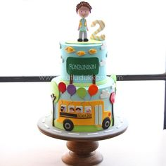 Mutlu Dükkan Little Boy Cakes, Cakes For Boys, School Bus Cake, Cake Designs For Kids, Army Cake, Fondant, Truck Cakes, Wheels On The Bus, Sugar Cake