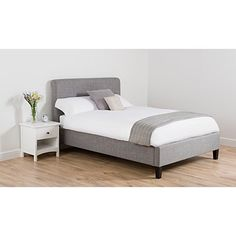 George Home Antonio Scroll Bed in Light Grey - King Size | Beds | George at ASDA