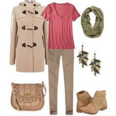 Pink and Green Fall Outfit