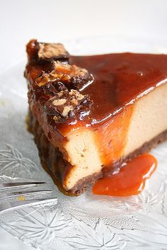 Caramel and Toffee Cheesecake