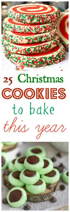 25 Christmas Cookies to Bake This Year, you won't be disappointed with this list! #dessertfoodrecipes Christmas Diner Ideas, Christmas Treats, Christmas Baking Ideas Cookies, Best Christmas Cookie Recipes, Christmas Cookies Gift, Cookie Ideas, Christmas Cookie Exchange, Christmas Goodies, Christmas Desserts