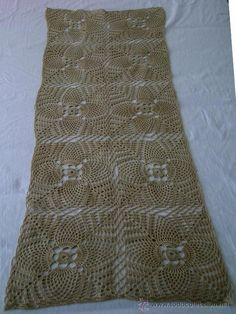 Centro de mesa-Tapete ganchillo/crochet - Rectangular: 38cm x 96cm