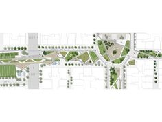 Regeneration of the Agias Sofias - Acheiropoeitos axis of Thessaloniki… Masterplan Architecture, Architecture Student, Architecture Plan, Landscape Design Plans, Landscape Architecture Design, Thessaloniki, Landscape Plane, Parque Linear, Paving Design