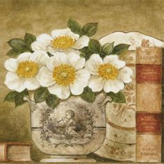 Potted Flowers with Books VI (Eric Barjot)