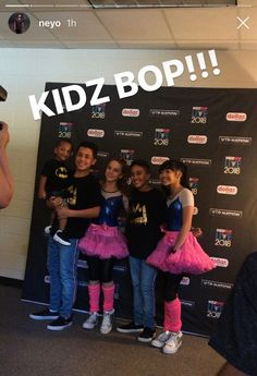 ✨ Biggest Fans ✨ Music artist neyo with his family at KIDZ BOP #kidzboplivetour ✨ Boys rocking King Che tees and girls in vibrant Angel's Face pop tutus ✨ Head stylist: @sheppardstyle Assistant stylist: @kate_e_hill @alegremedia 🌟✨🌟 Kids Bop, Music Artists, Stylists, Pop, Face, Vibrant, King, Girls, Fashion