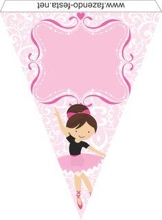 kit festa bailarina bandeirolas