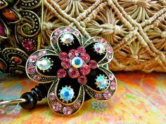 Floral Shape Retractable Badge Holder  by BadgeAlleybyGerAnne, $16.00