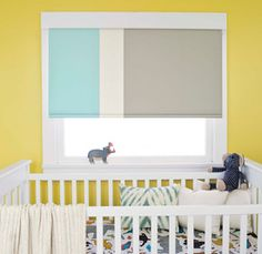Our Cordless Control is only available, at no charge, for Classic Roller. We use the most durable, smooth operating system available. Your shade will rise smoothly and slowly. #RollerShades #KidsRoom #GoCordless