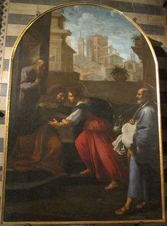 Rutilio Manetti - Visitazione  - Siena, Battistero di San Giovanni