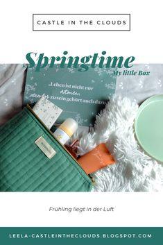 {My little Box} Springtime - März 2020 Beauty Box, Little Boxes, Beauty Review, Spring Time, Tricks, German, Make Up, Castle, Clouds
